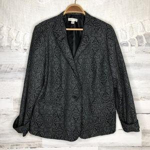 Coldwater Creek damask printed button up coat